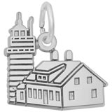 14K White Gold West Quoddy Head ME Lighthouse by Rembrandt Charms