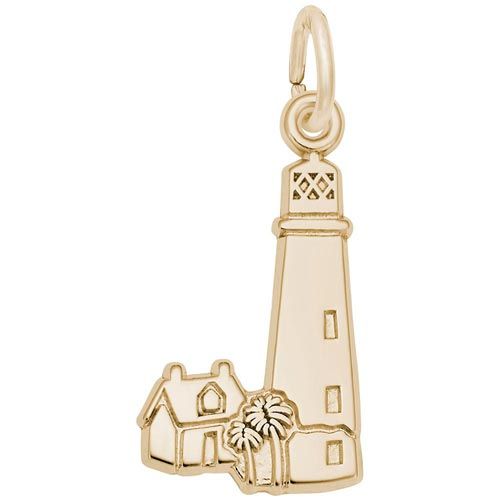 Gold Plated Cape Florida Lighthouse Charm by Rembrandt Charms