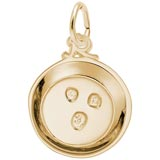 Gold Plated Mining for Gold Pan Charm by Rembrandt Charms