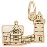 14K Gold Nubble Cape ME Lighthouse Charm by Rembrandt Charms
