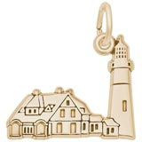 Gold Plated Portland Head Lighthouse Charm by Rembrandt Charms
