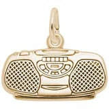 Gold Plated Boom Box Charm by Rembrandt Charms