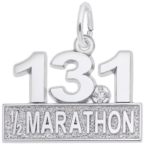 14k White Gold 13.1 Marathon (stone) by Rembrandt Charms