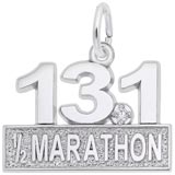 14k White Gold 13.1 Marathon (stone) by Rembrandt Charms
