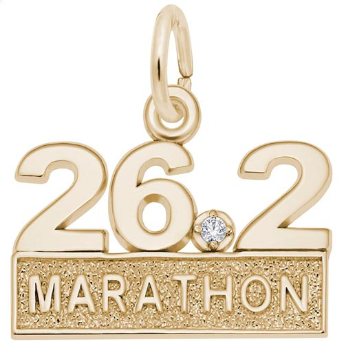 14k Gold 26.2 Marathon (stone) by Rembrandt Charms