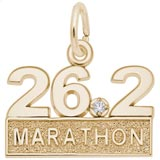 Gold Plated 26.2 Marathon (stone) by Rembrandt Charms