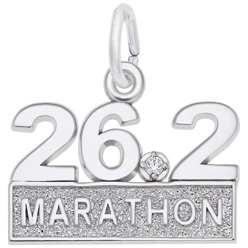 14k White Gold 26.2 Marathon (stone) by Rembrandt Charms