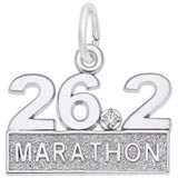 Sterling Silver 26.2 Marathon (stone) by Rembrandt Charms