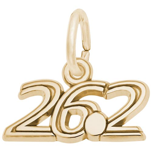 Gold Plated 26.2 Marathon Charm by Rembrandt Charms