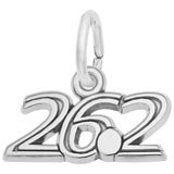 14k White Gold 26.2 Marathon Charm by Rembrandt Charms
