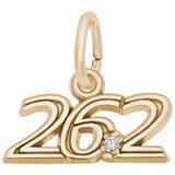14k Gold 26.2 Marathon (stone) Charm by Rembrandt Charms