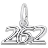 Sterling Silver 26.2 Marathon stone Charm by Rembrandt Charms