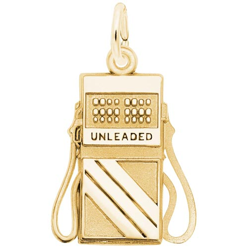14K Gold Gas Pump Charm by Rembrandt Charms