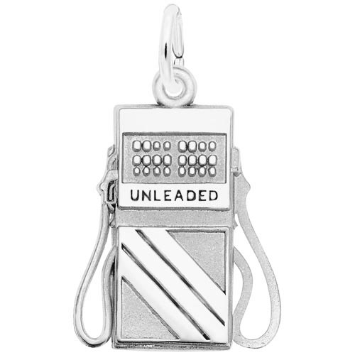 14K White Gold Gas Pump Charm by Rembrandt Charms