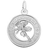 14K White Gold SM Grand Cayman Palm Tree Charm by Rembrandt Charms