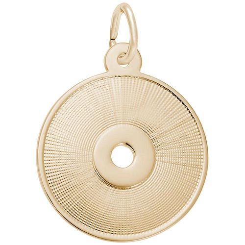 14K Gold Compact Disc Charm by Rembrandt Charms