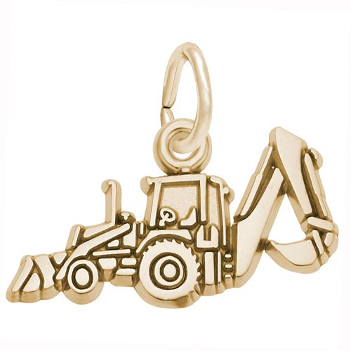 Gold Plated Backhoe Charm by Rembrandt Charms