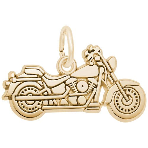14K Gold Motorcycle Charm by Rembrandt Charms