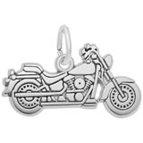 Sterling Silver Motorcycle Charm by Rembrandt Charms