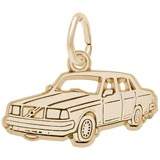 Gold Plated Mid-Size Luxury Car Charm by Rembrandt Charms