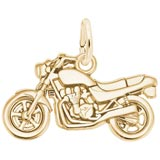 10K Gold Motorcycle Charm by Rembrandt Charms