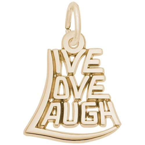 14K Gold Live Love Laugh Charm by Rembrandt Charms