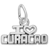 14K White Gold I Love Curacao Charm by Rembrandt Charms
