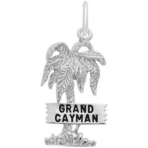 14K White Gold Grand Cayman Palm Tree Charm by Rembrandt Charms