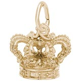 14k Gold Crown Charm by Rembrandt Charms