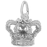 14K White Gold Crown Charm by Rembrandt Charms