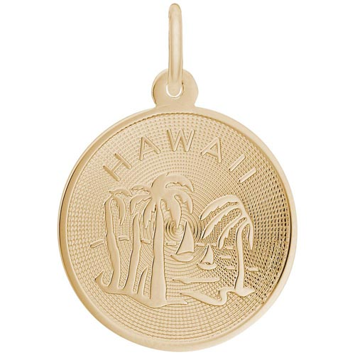 Gold Plated Hawaii Charm by Rembrandt Charms