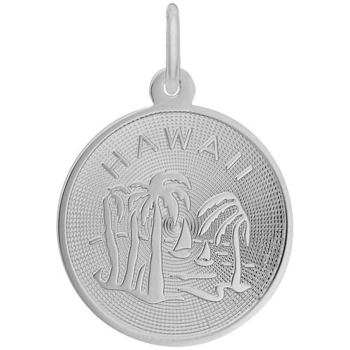 14K White Gold Hawaii Charm by Rembrandt Charms