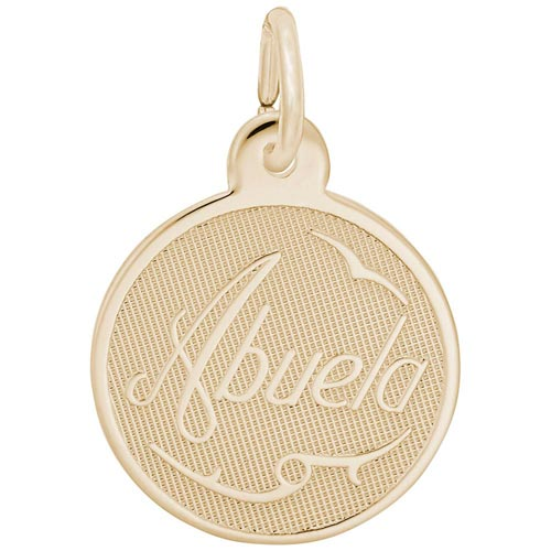 Gold Plated Abuela Charm Grandma by Rembrandt Charms