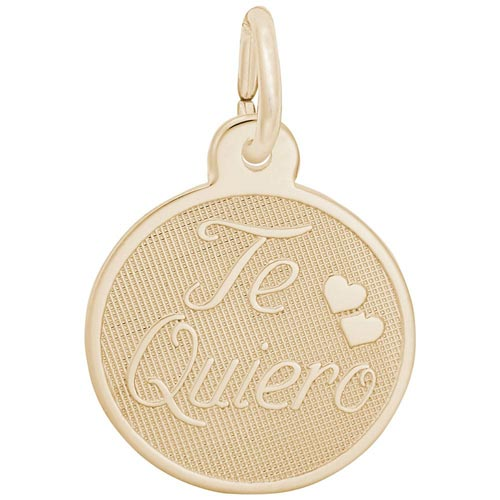 Gold Plated Te Quiero Charm by Rembrandt Charms