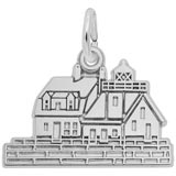 14K White Gold Rockland, ME Lighthouse Charm by Rembrandt Charms