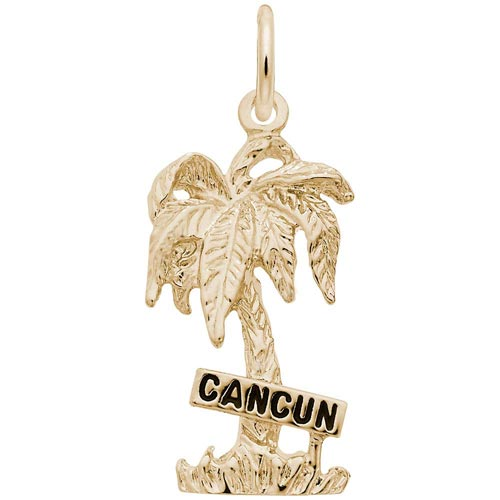 14K Gold Cancun Palm Tree Charm by Rembrandt Charms