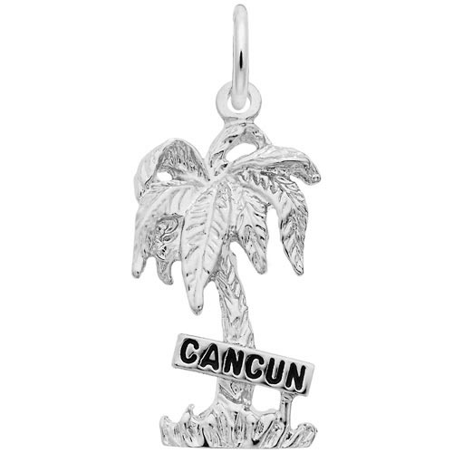 14K White Gold Cancun Palm Tree Charm by Rembrandt Charms