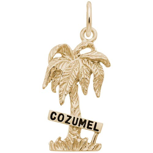 Gold Plate Cozumel Palm Tree Charm by Rembrandt Charms