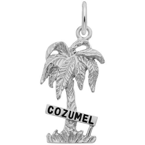 14K White Gold Cozumel Palm Tree Charm by Rembrandt Charms