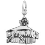 14K White Gold Old Port Boca Grande Lighthouse by Rembrandt Charms