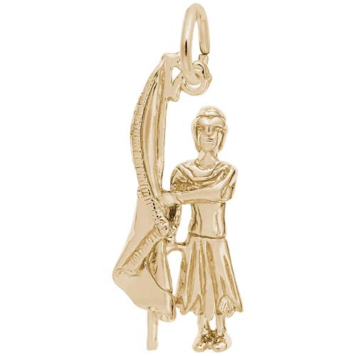 14k Gold Color Guard Flag Charm by Rembrandt Charms