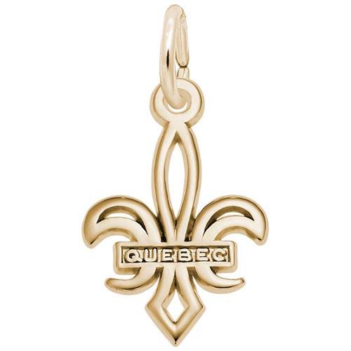 14K Gold Small Quebec Fleur De Lis Charm by Rembrandt Charms