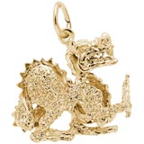 Gold Plate Dragon Charm by Rembrandt Charms