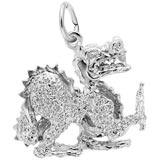 14K White Gold Dragon Charm by Rembrandt Charms