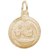 14k Gold Baptism Charm by Rembrandt Charms