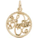 10K Gold St. Maarten Faceted Charm by Rembrandt Charms