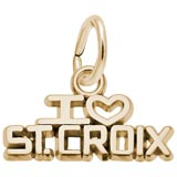 Gold Plate I Love St. Croix Charm by Rembrandt Charms