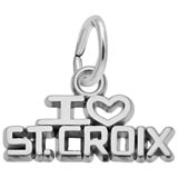14K White Gold I Love St. Croix Charm by Rembrandt Charms