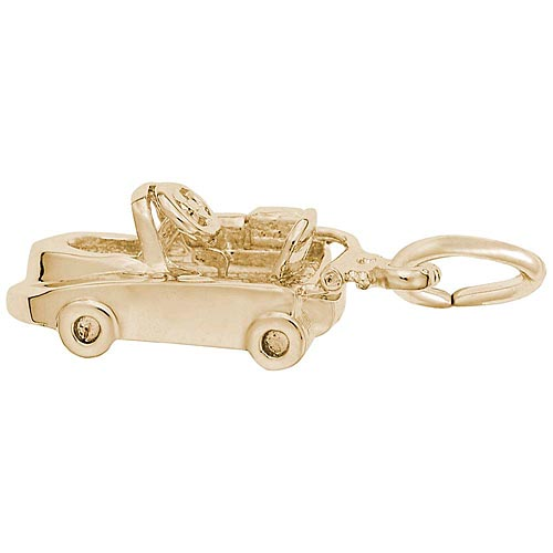 Gold Plated Go Kart Charm by Rembrandt Charms