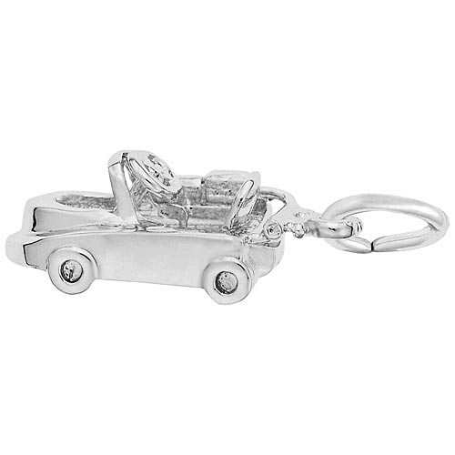14K White Gold Go Kart Charm by Rembrandt Charms
